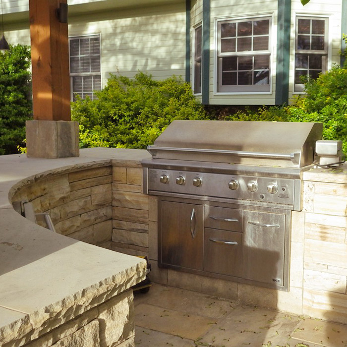 Excellent Built In Outdoor Kitchen Grill Custom Built Outdoor Interior Design Ideas Ghosoteloinfo