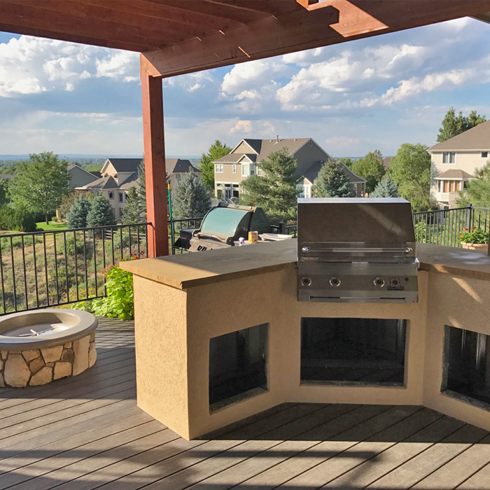 Kitchen Ft Collins: Built-In Outdoor Kitchen Grill